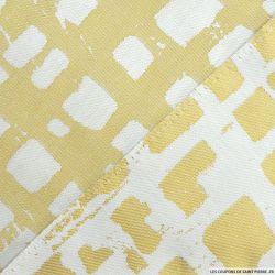 Jacquard polycoton rectangle fond or