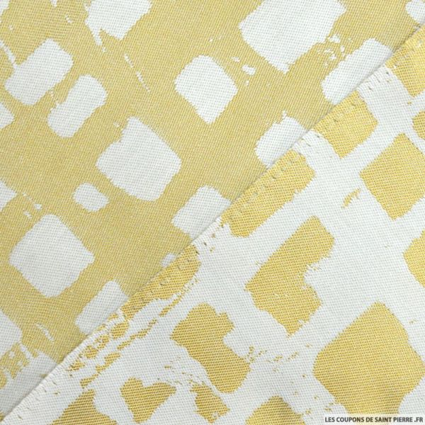 Jacquard polycoton rectangle fond or