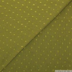 Mousseline de polyester plumetis kaki