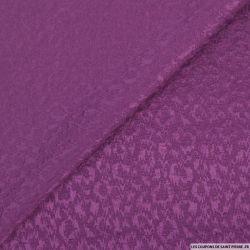 Jacquard laine mélangée sauvage mauve