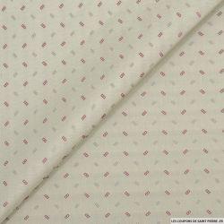 Jacquard polyester mini échelle fond sable