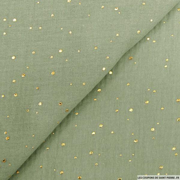 Double gaze jade confettis doré
