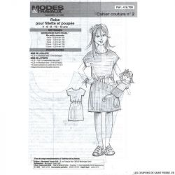 Patron n°418 780 Modes & Travaux - Robe pour filette et poupée