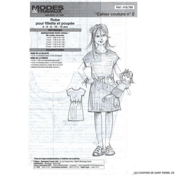 Patron n°418 541 Modes & Travaux - Bermuda pour garçon et robe pour poupée