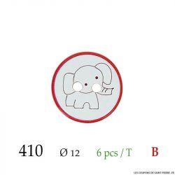 Tube 6 boutons éléphant blanc Ø 12mm
