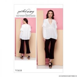 Patron Vogue V1618 : Tunique et pantalon