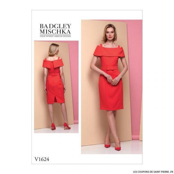 Patron Vogue V1624 : Robe chic