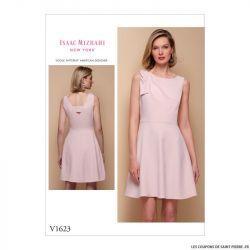 Patron Vogue V1623 : Robe chic noeud épaule