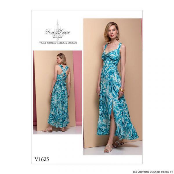 Patron Vogue V1625 : Robe longue à bretelles