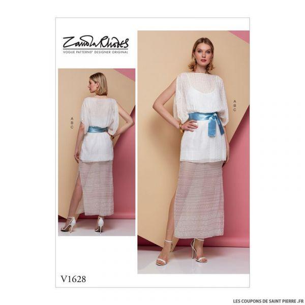 Patron Vogue V1628 : Robe et ceinture