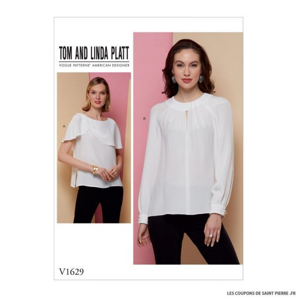 Patron Vogue V1629 : Blouse et haut