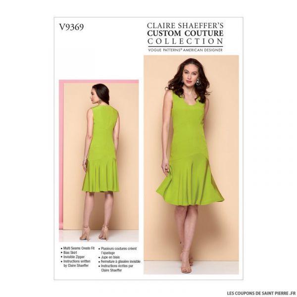 Patron Vogue V9369 : Robe ajustée