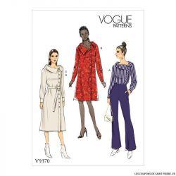 Patron Vogue V9370 : Tunique, robe et ceinture
