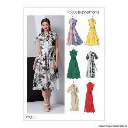 Patron Vogue V9371 : Robe chemise et ceinture