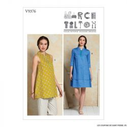 Patron Vogue V9376 : Tunique et robe ample