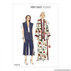 Patron Vogue V9375 : Gilet, veste et pantalon large