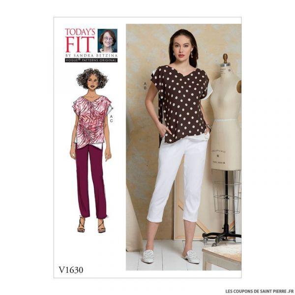 Patron Vogue V1630 : Haut et pantalon