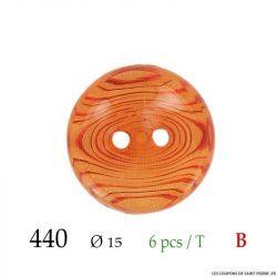 Tube 6 boutons transparent ambre Ø 15mm
