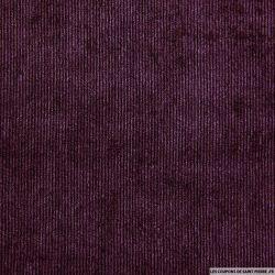 Velours polyester côtelé zinzolin