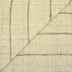 Bourrette de soie rustique rayée fond ficelle