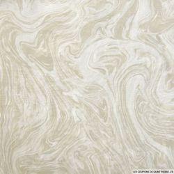 Mousseline de soie marbre beige