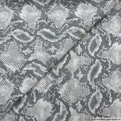 Jacquard coton élasthane serpent gris