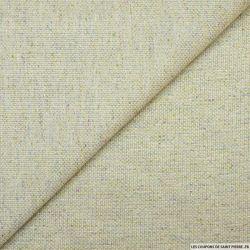 Jacquard coton viscose et soie sable fils irisé multicolore