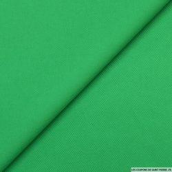 Gabardine de coton vert gazon