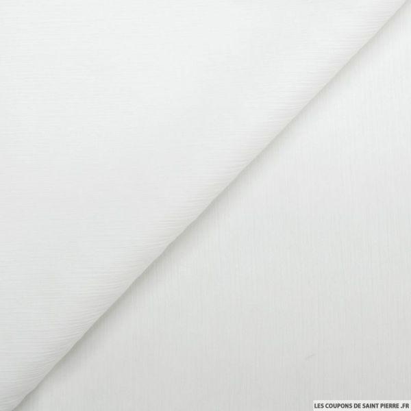 Mousseline de soie crinkle blanc cassé
