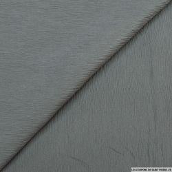 Mousseline de soie crinkle gris acier