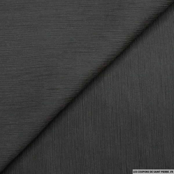 Mousseline de soie crinkle noir