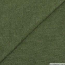 Etamine de laine vert militaire
