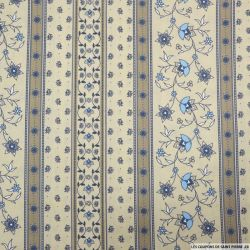 Coton imprimé provençal frise sable