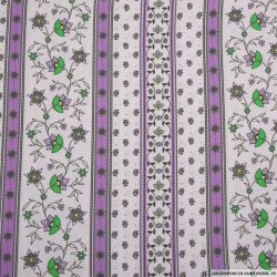 Coton imprimé provençal frise lavande