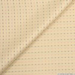 Jacquard polyester motif cravate fond nude