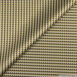 Jacquard polyester pixel gris et kaki
