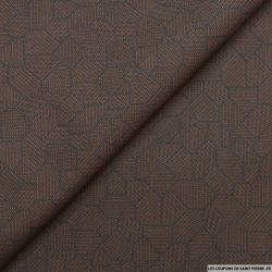 Jean's jacquard graphique marron