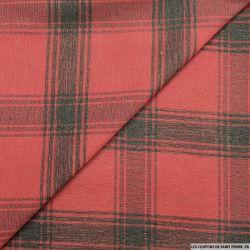 Jean's jacquard carreaux fond rouge