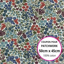 Coton liberty ® Sweet may bleu - Coupon 50x45cm