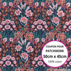 Coton liberty ® Mountain rose - Coupon 50x45cm