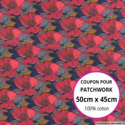 Coton liberty ® Little fuchsia - Coupon 50x45cm