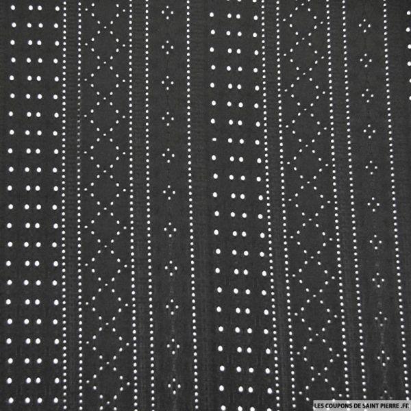 Jersey dentelle polyester noir