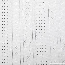 Jersey dentelle polyester blanc