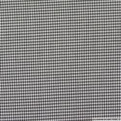 Pied de poule polyviscose noir et blanc