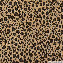 Maille Milano léopard camel