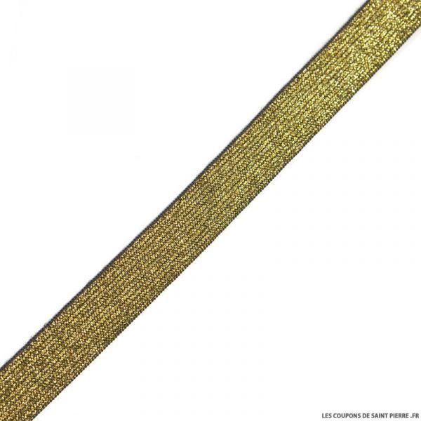 Elastique lurex noir or - 20mm au mètre