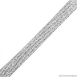 Elastique lurex blanc argent - 20mm au mètre