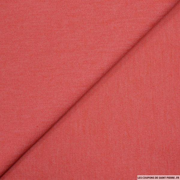 Jean's coton élasthane rouge chiné