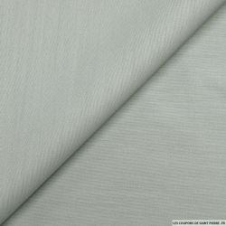 Ottoman laine et soie vert de gris
