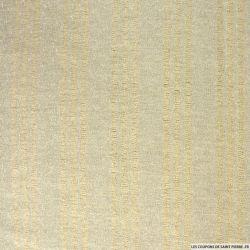 Tweed polyester beige et irisé argent